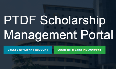 PTDF Scholarship 2021/2022, For Undergraduate, Masters, and PhD