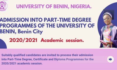 UNIBEN Part-Time Admission Form 2021 Begins- How to Apply