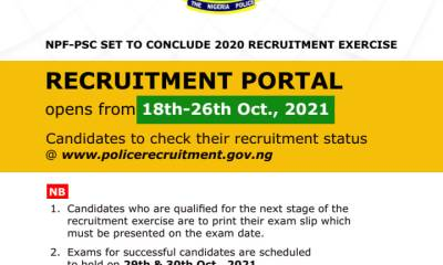 Nigerian Police Force Recruitment 2020: How to Check your Status