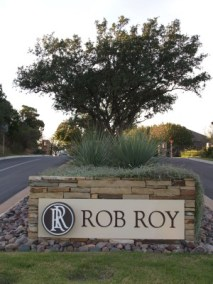 Rob Roy entrance sign