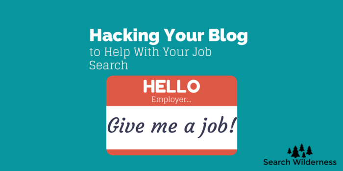 how to hack your job search with your website and a line of code