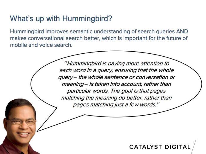 amit singhal talking about google hummingbird