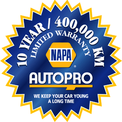 Maintenance warranty badge from NAPA AUTOPRO