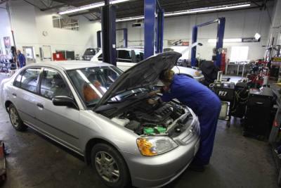 Engine repair Victoria in the upper auto shop at Searles Auto Repair