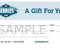 Searles Auto Repair - Gift Certificate