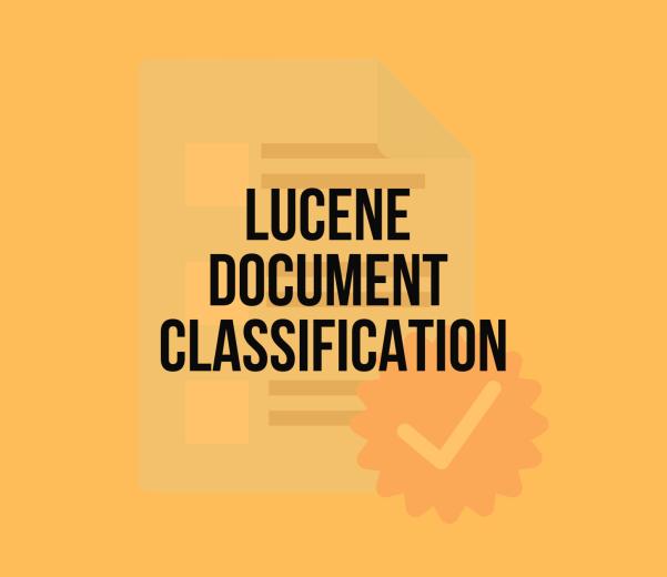 Lucene Classification