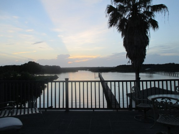 Florida scenic view of waterway from deck