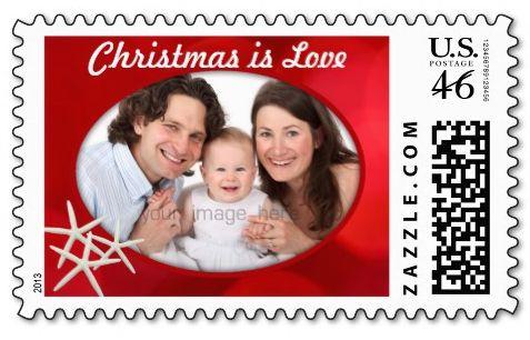 tropical christmas photo postage