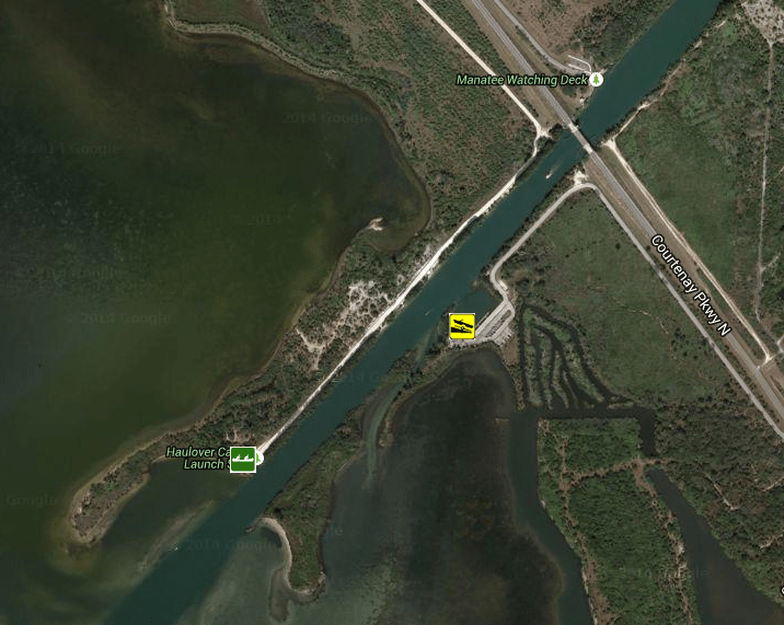 aerial view of haulover canal