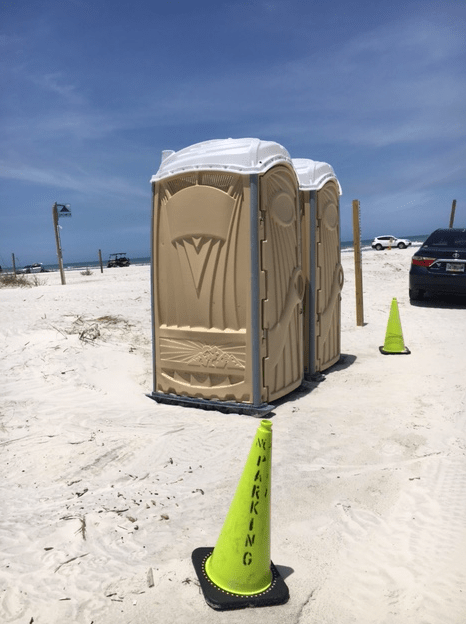 portable bathroom, porta-potty