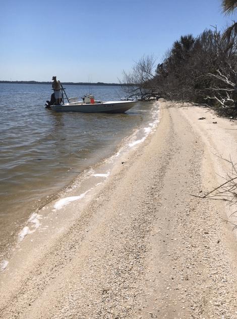 boat docked at the beach