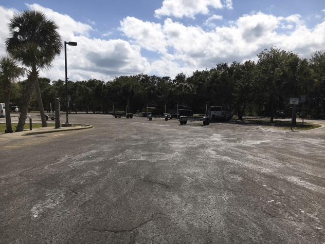 Riverbreeze boat launch parking lot