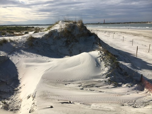 View from boardwalk to Ponce Inlet from Smyrna Dunes Park.