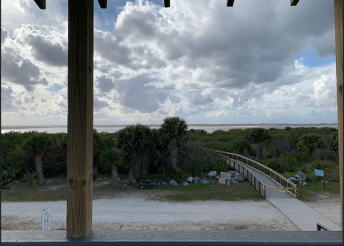 Smyrna Dunes Park view from the two-story lookout
