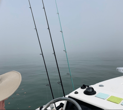Fog all around the boat