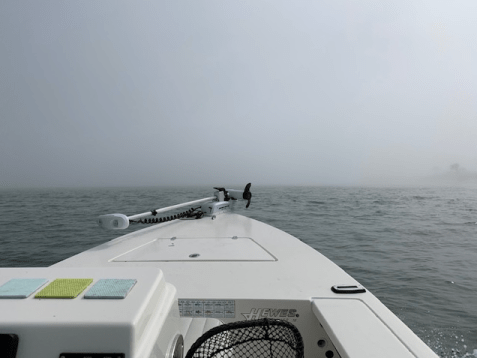fog on the water