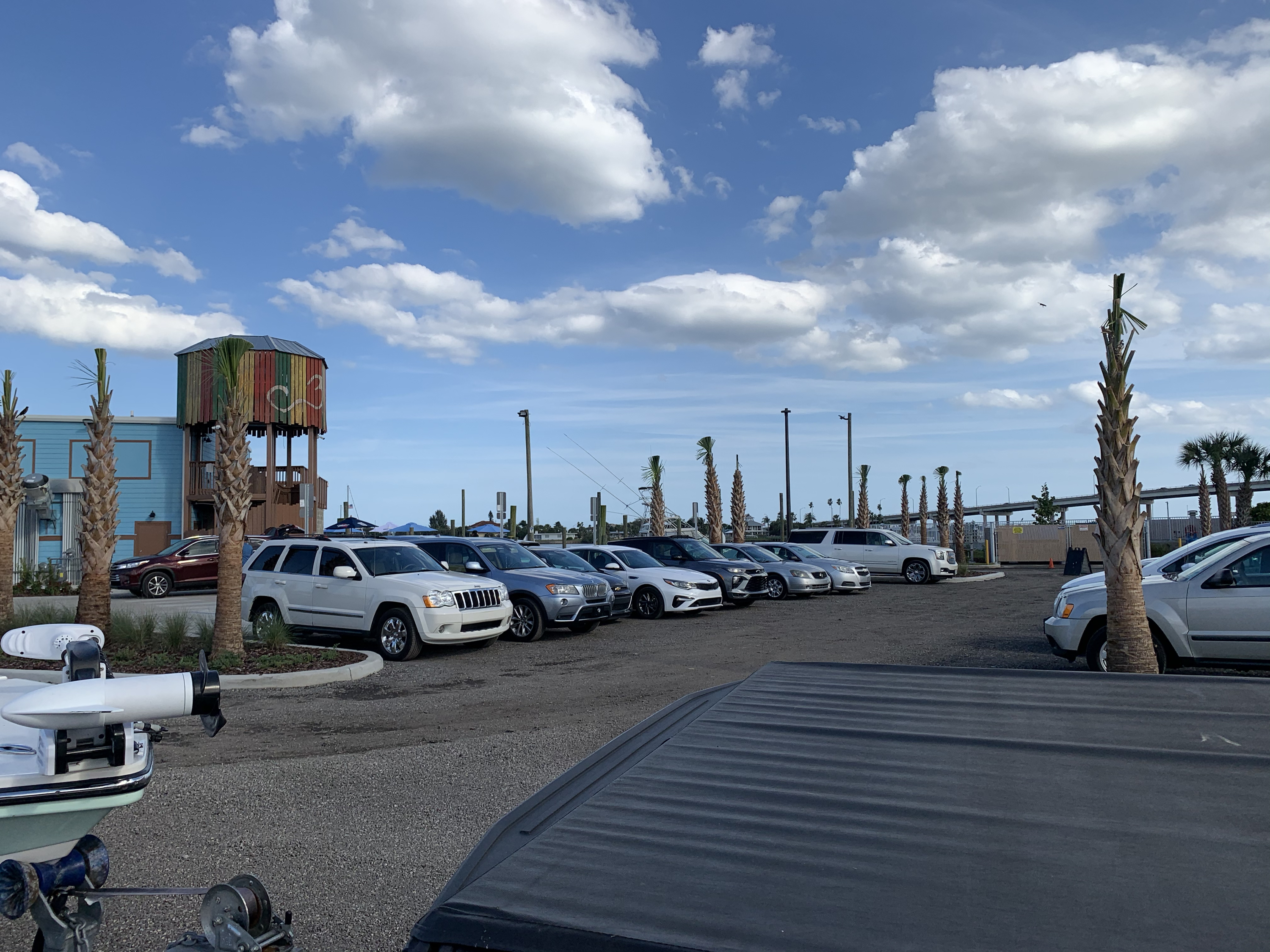 Valet parking required at the River Deck restaurant in New Smyrna Beach Florida