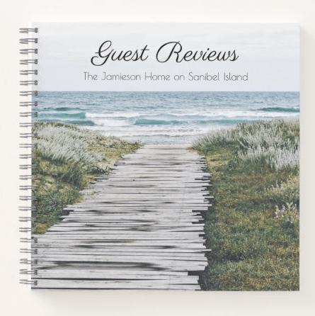 Guest reviews spiral bound notebook
