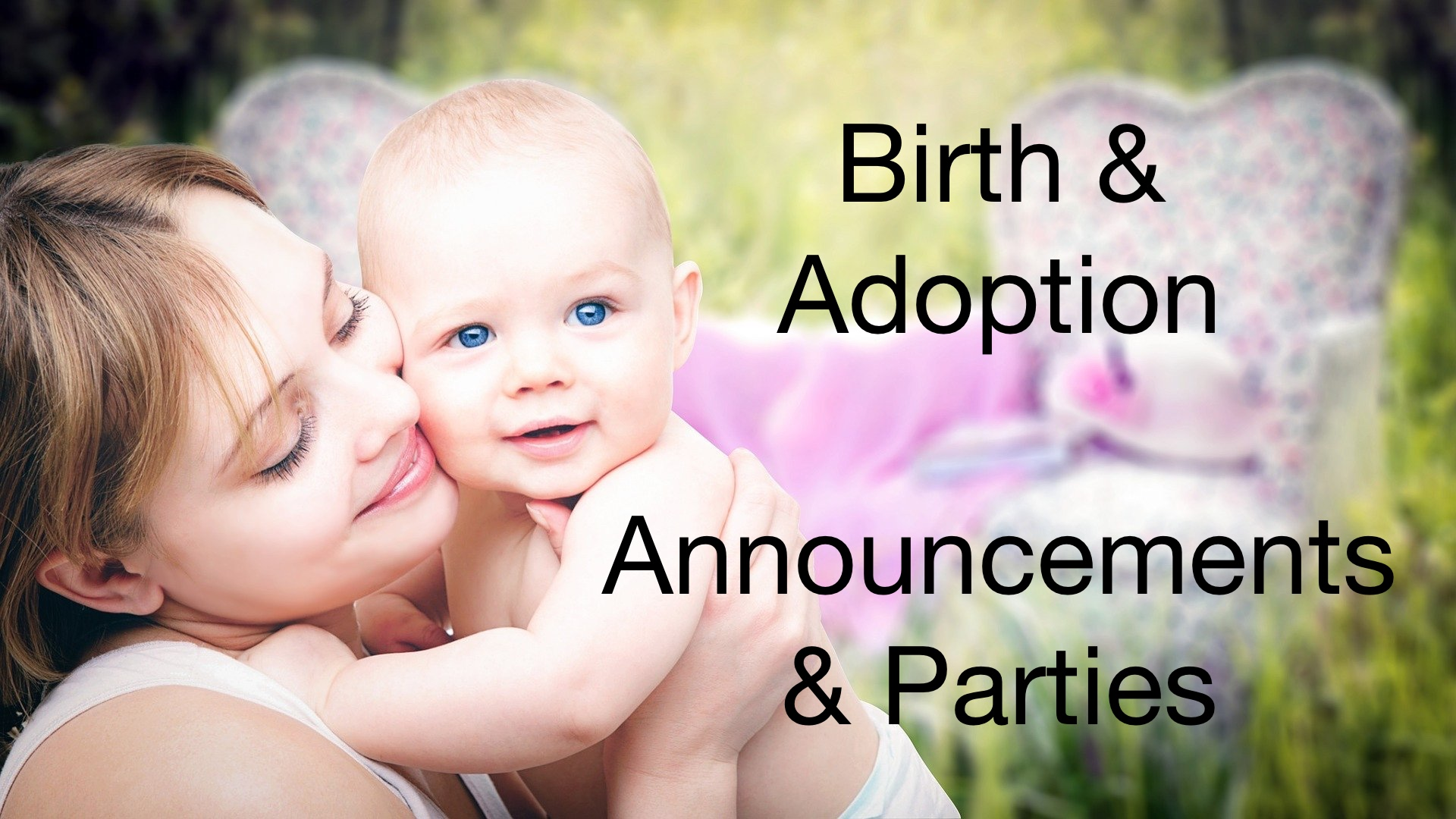 birth and adoption announcements