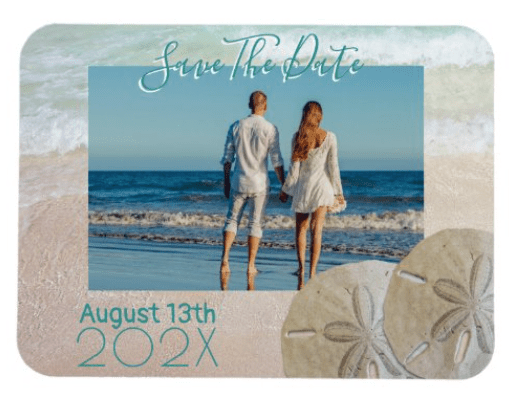 beach wedding save-the-date magnet