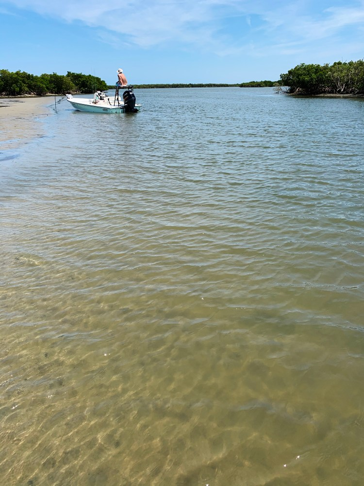 Three Sisters island low tide boating docked