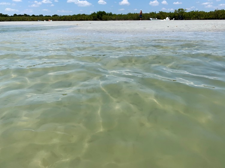 tide pool sandy beach boating Florida island hopping