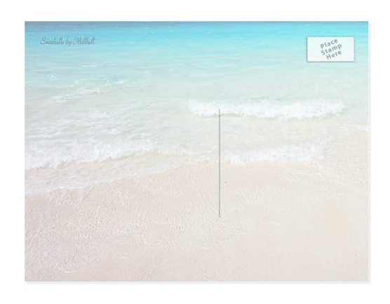 Beach scene postcard background for text