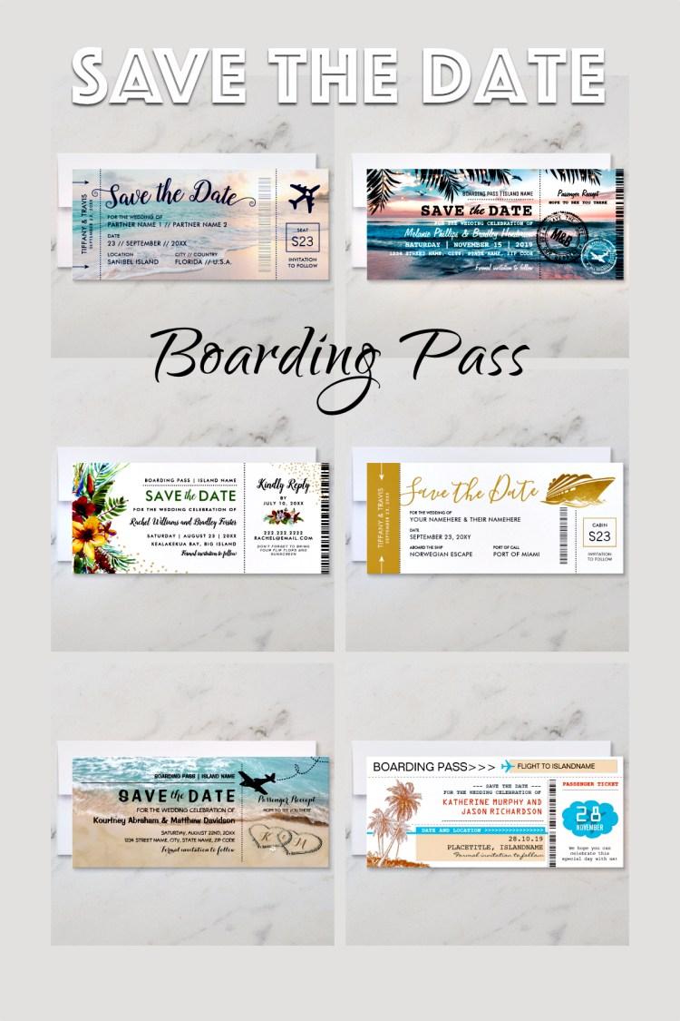 boarding pass, save the date, destination wedding, travel, wedding event,