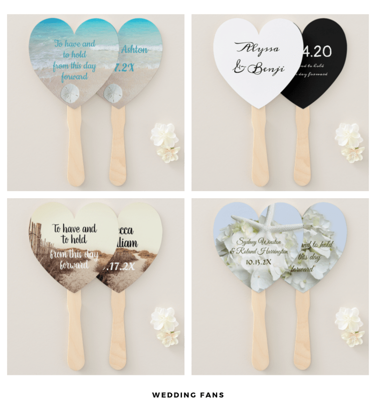 heart wedding fans to have and to hold