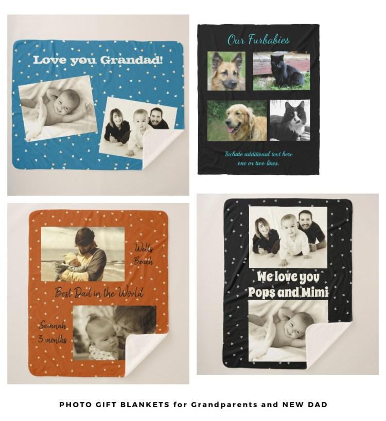 photo blankets for grandparents