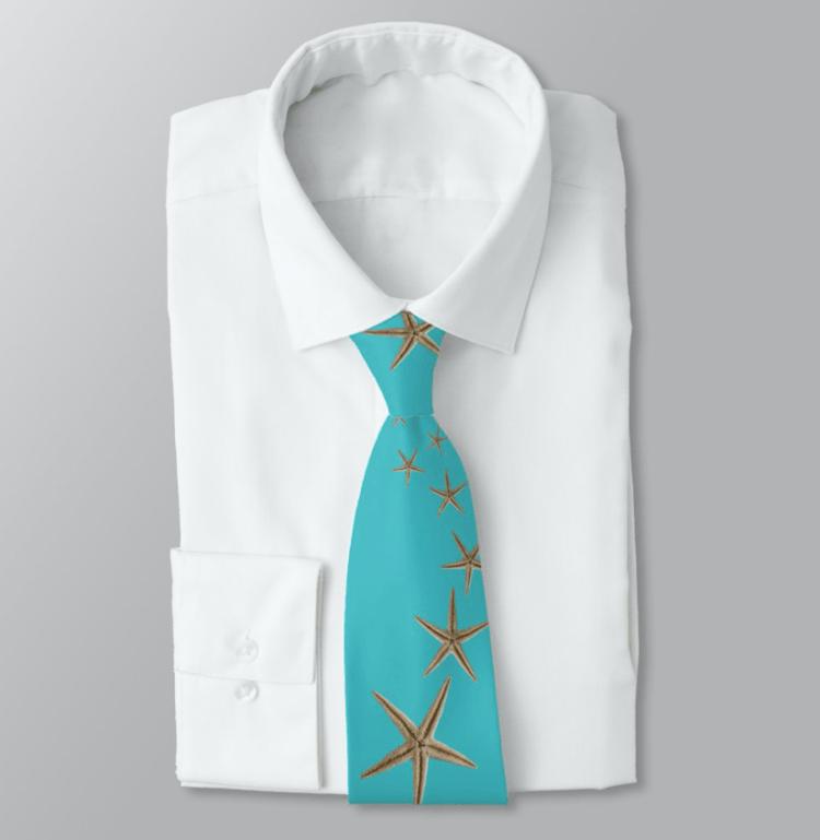 Sea stars starfish tie tropical turquoise