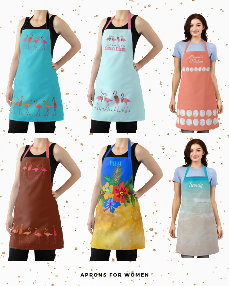 personalized aprons for women