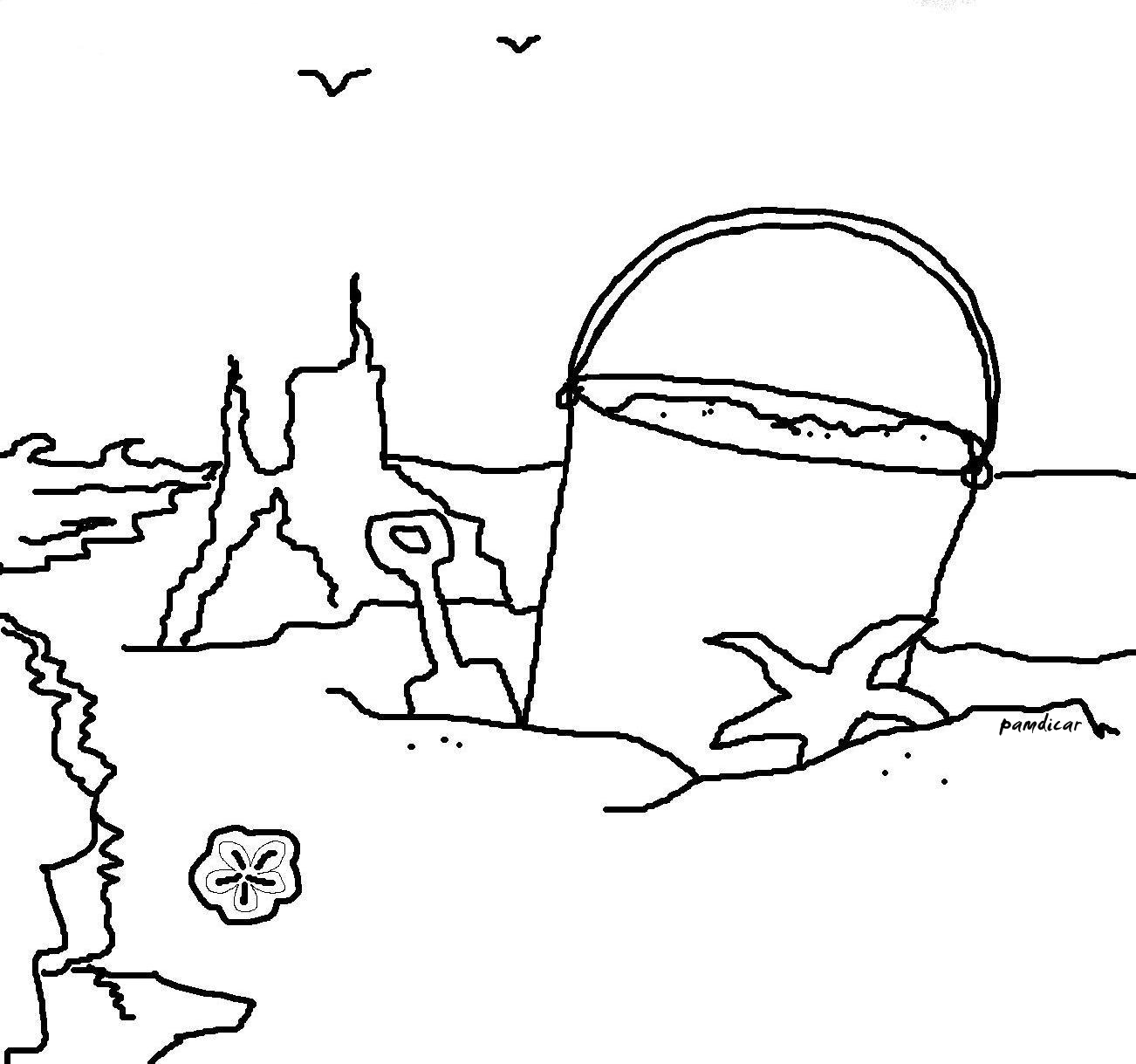 At The Shore Coloring Page