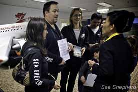 Sea Shepherd Hong Kong Deliver Letter To Hong Kong Airline