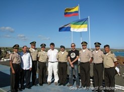 Heads of police with Sea Shepherd Galapagos