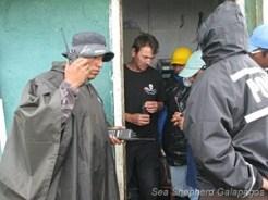 Radio check of the new police repeater on Santa Cruz