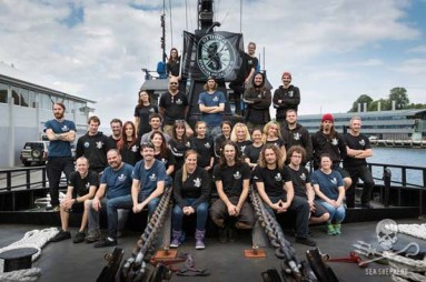 The crew of the Bob Barker for Operation Icefish Photo: Sea Shepherd