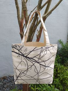 AFT841 Classic Tote Natural Photos Silk Screen
