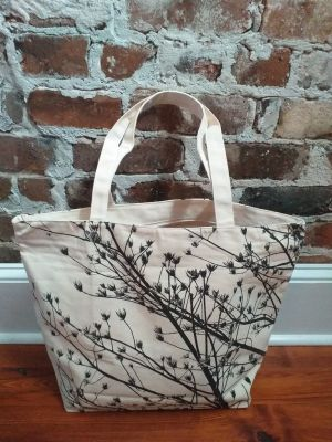 ALT898 Original Silk Screen Photos Large Zipper Tote