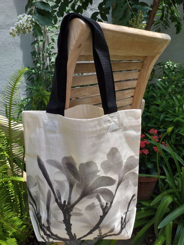 ATT123 Light Canvas Silk Screen Tote Nylon Strap