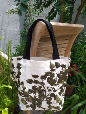 ATT637G Light Canvas Silk Screen Tote Nylon Strap