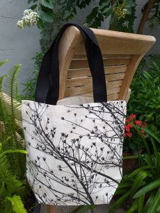 ATT868 Light Canvas Silk Screen Tote Nylon Strap