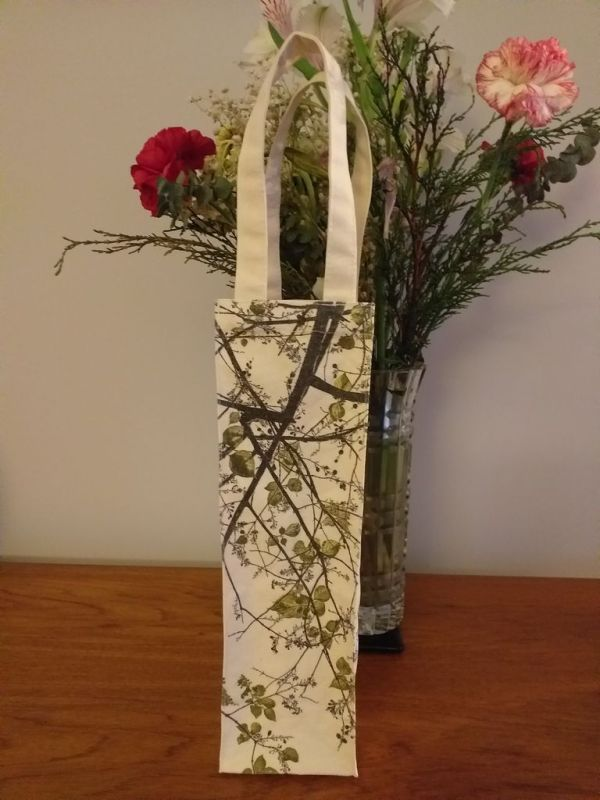 AWT818G Original Silk Screen Gift Wine Bottle Tote
