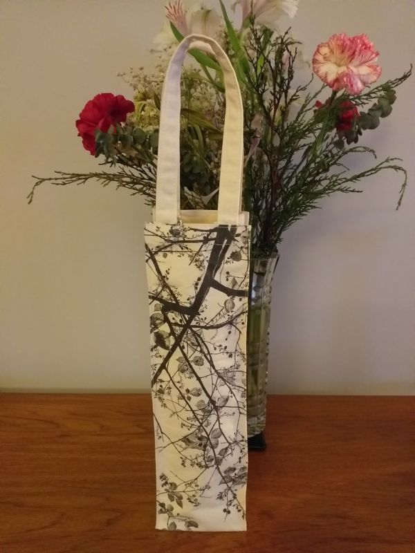 AWT818 Original Silk Screen Gift Wine Bottle Tote