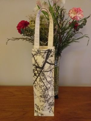 AWT818 Original Silk Screen Gift Wine Bottle Tote