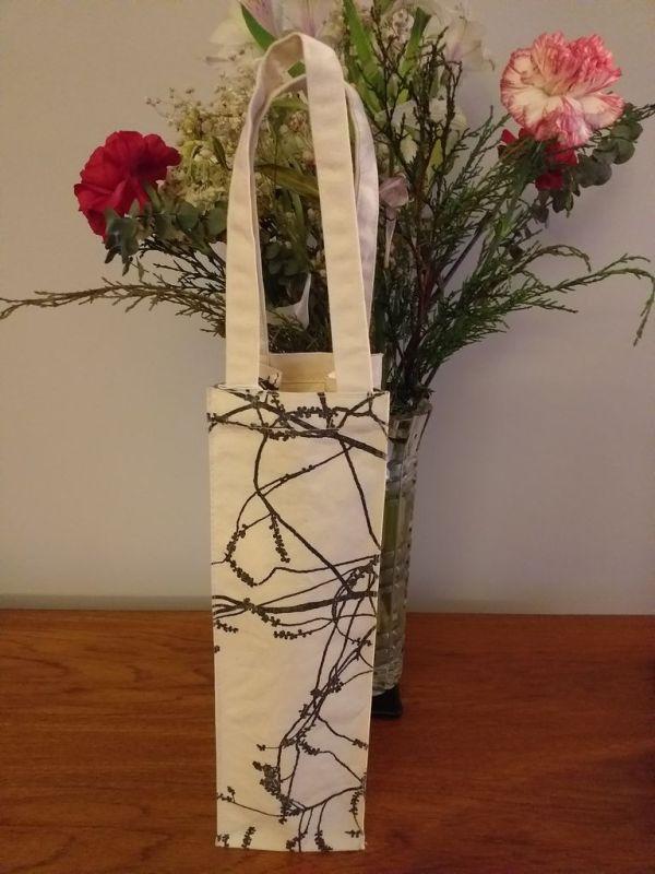 AWT856 Original Silk Screen Gift Wine Bottle Tote