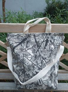 AXT893 Cotton Canvas Silk Screen Cross Body Tote