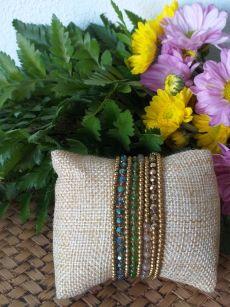 HRB959 Thailand Handmade SemiPrecious Stone Metal Bracelet