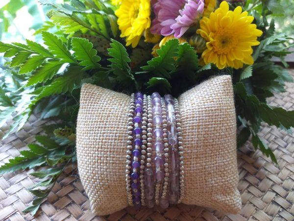HRB966 Thailand Handmade SemiPrecious Stone Metal Bracelet