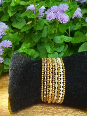 HWB960 Thailand Unique Stone Metal Bead Bracelet